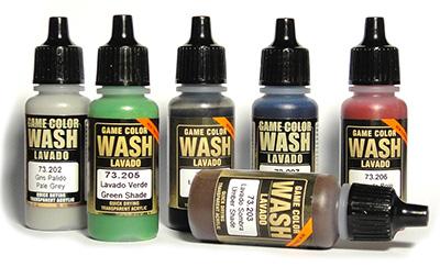 Краски Vallejo Game Color Wash (проливки)