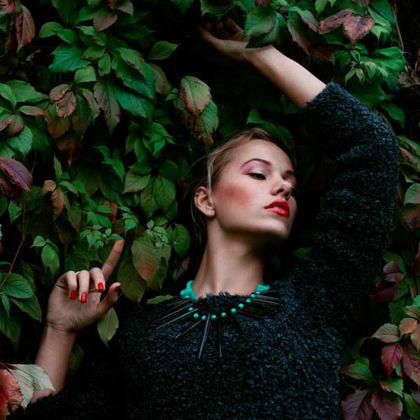 Модное зеленое ожерелье-колье из металла Papiroga  фото