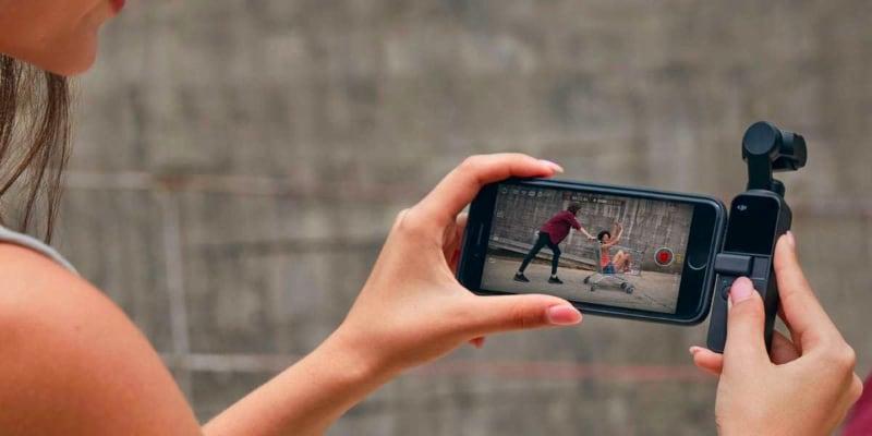 DJI OSMO Pocket с телефоном
