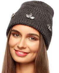 шапка бини с отворотом