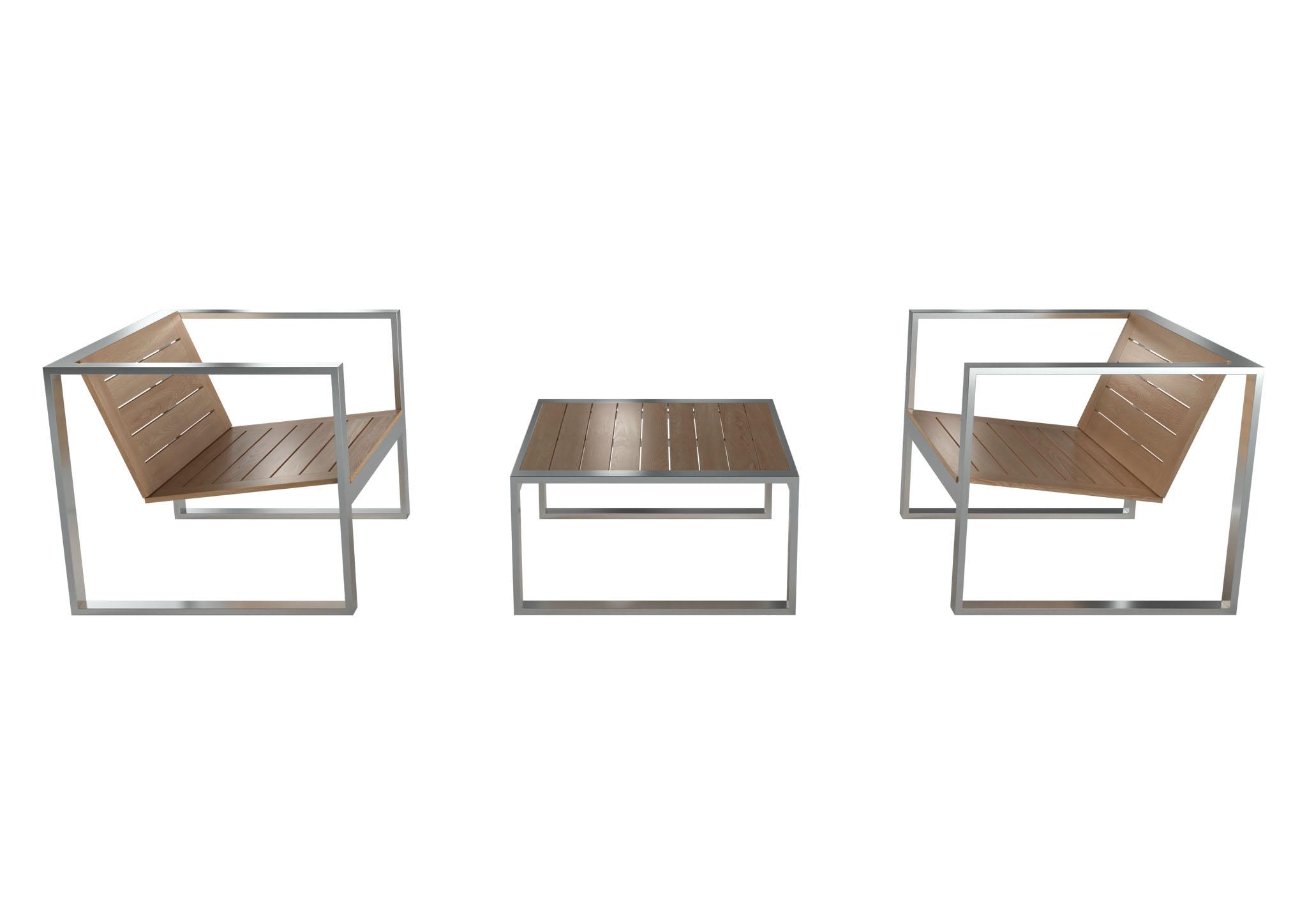 набор террасной мебели из дерева