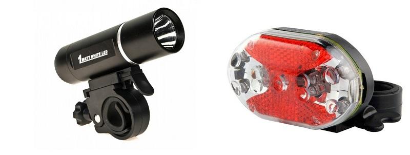 Велосипедный фонарь и маячок
