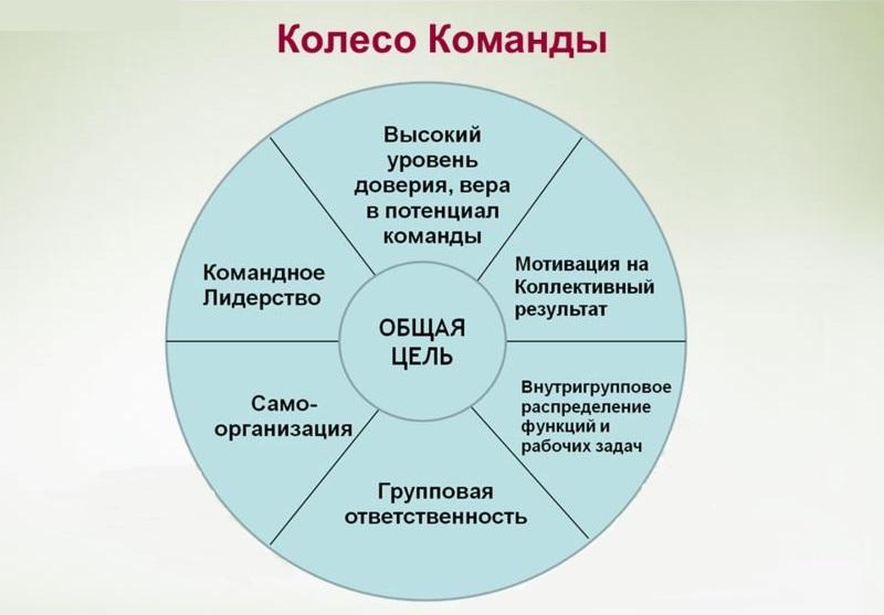 колесо команды