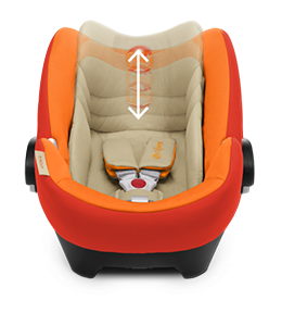 8-позиционный регулируемый по высоте подголовник - Для идеальной защиты, растущей вместе с малышом