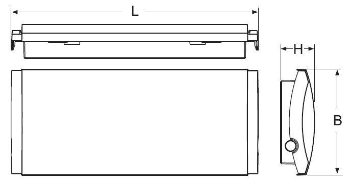 Размер на светильник аварийного освещения ip65 Formula65 Beghelli