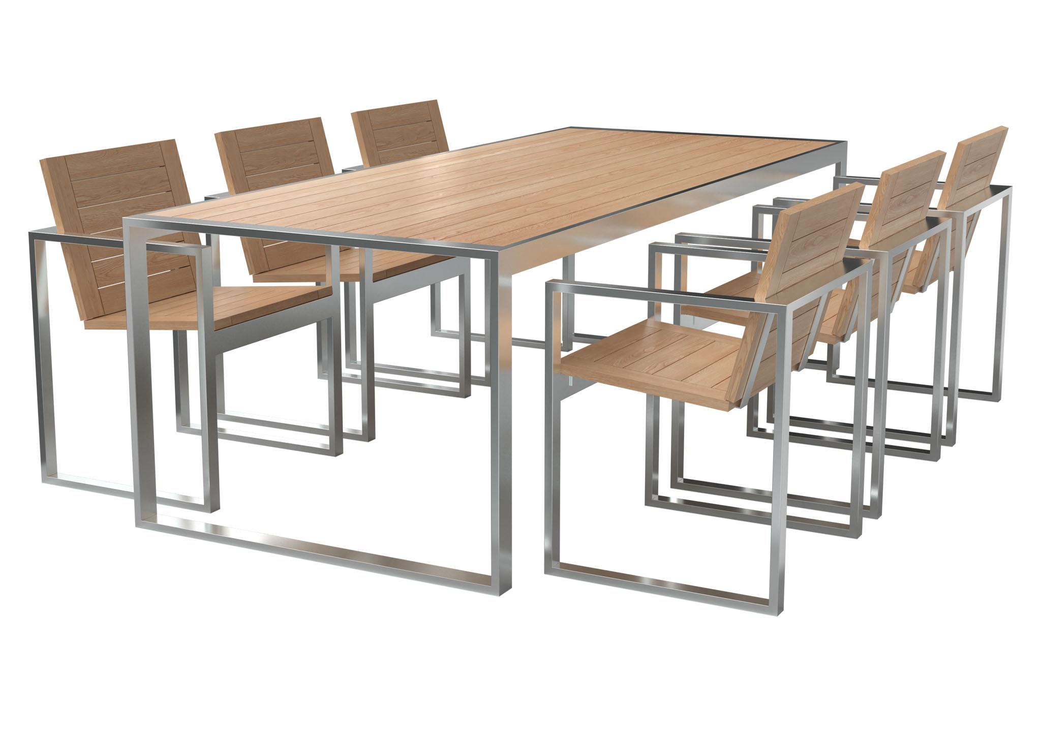 Большие обеденные столы outdoor из массива дерева TRIF-MEBEL
