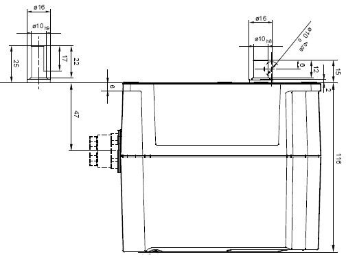 Размеры привода Siemens SQM48.697A9