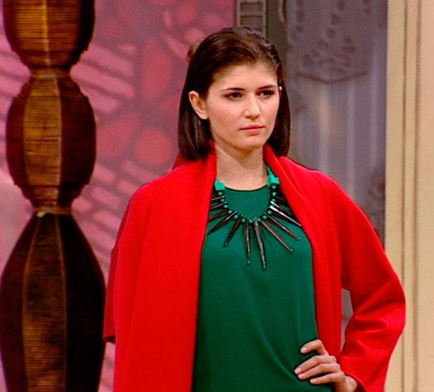 Estalagmita колье Papiroga в Модном приговоре в c Эвелиной Хромченко фото