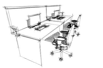 Колл-центр на основе столов и экранов
