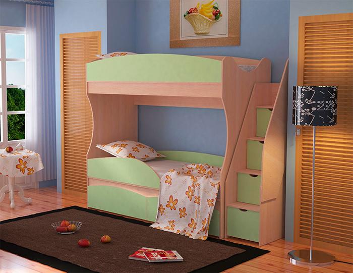 двухъярусная кровать омега-15