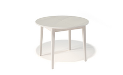 Стол кухонный KENNER 1000M, раздвижной, бук/стекло крем