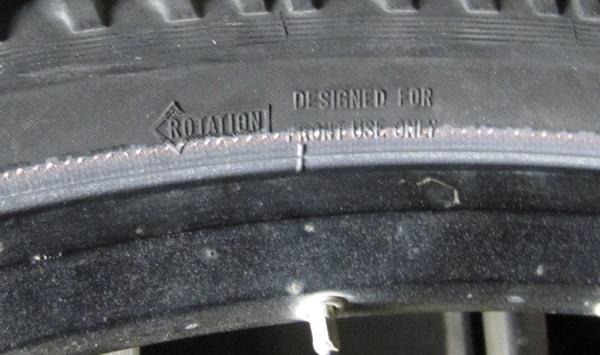 Покрышка только для переднего колеса