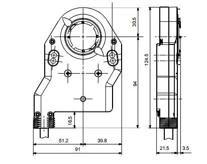 Размеры системы Siemens ASC77.1E