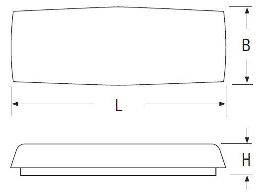 Размер на Светильник аварийного освещения с люминесцентными лампами LOGICA Beghelli