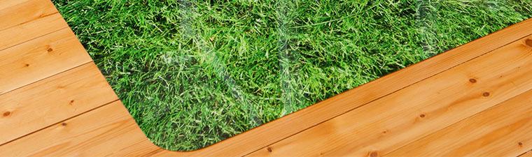 Защитный коврик под кресло 900x1200 мм «газон»