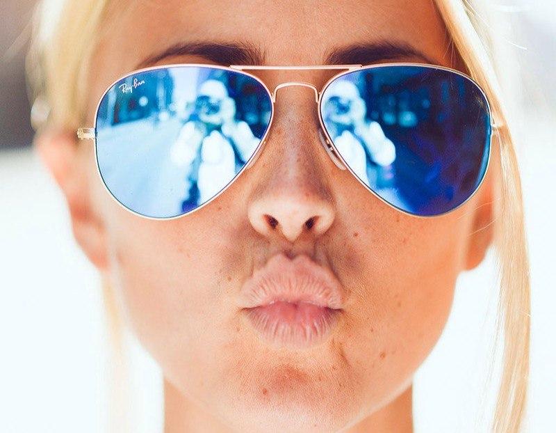 Очки ray ban серо - синие оптом