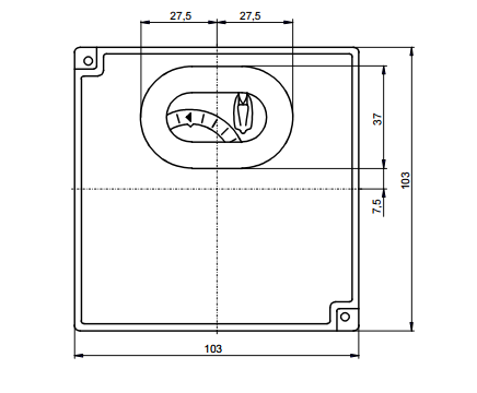 Размеры автомата горения Siemens LFL1.122-110V