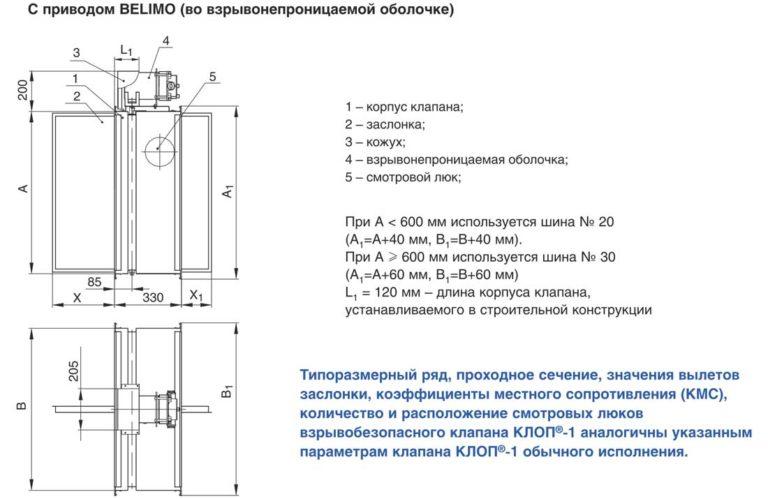 Схема клапана КЛОП-1(60)-НО-МВ(24/220)-Н-В