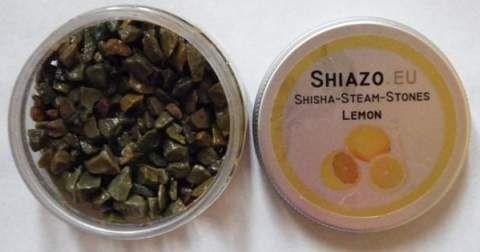 Открытая баночка камней Шиазо Лимон