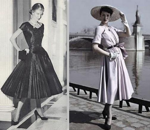 66b0b70f4b1cc66 В 50-е годы новую жизнь в платье-рубашку вдохнул Кристиан Диор, взяв за  основу сорочку он добавил к ней юбку на кринолине и кожаный ремешок на  талии.