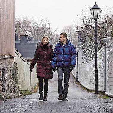 Финские пуховики Joutsen в Порвоо