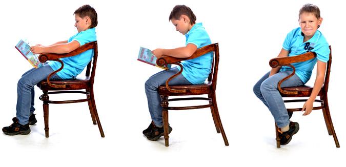 Неправильная осанка у ребенка? Исправим сидя за уроками!