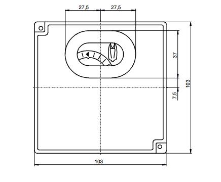 Размеры автомата горения Siemens  LFL1.322-110V