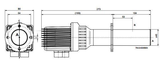 Размеры Siemens QGO20.000D17