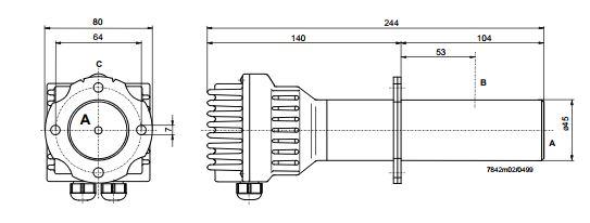 Размеры Siemens QGO20.000D27