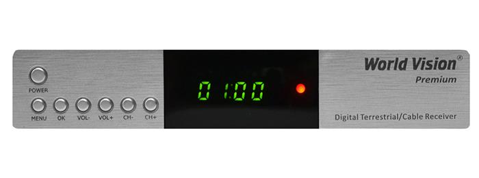 ЦИФРОВАЯ ТВ ПРИСТАВКА WORLD VISION PREMIUM (DVB-T2 + DVB-C)