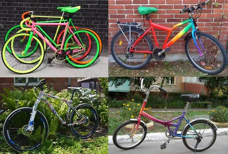 нестандартная и оригинальная покраска рам велосипедов