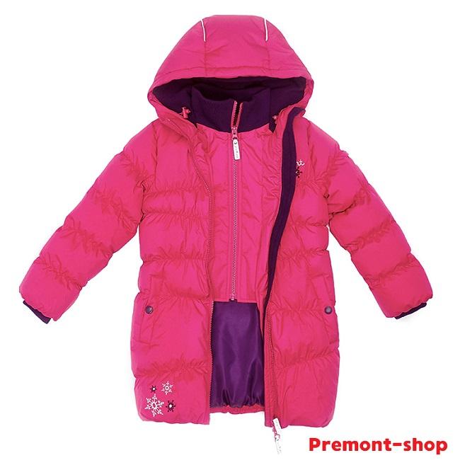 Пальто для девочки Premont Клубничный пудинг WP91351 в магазине Premont-shop