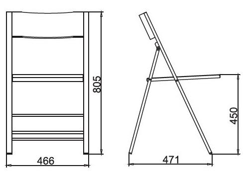 Размеры Стула C3332