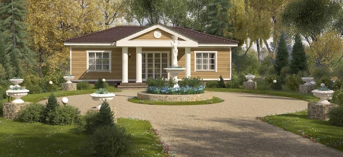 Одноэтажный дом «Классика» - 1 230 000 руб