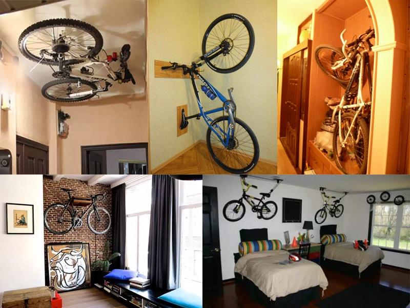 Варіанти зберігання велосипеда в квартирі