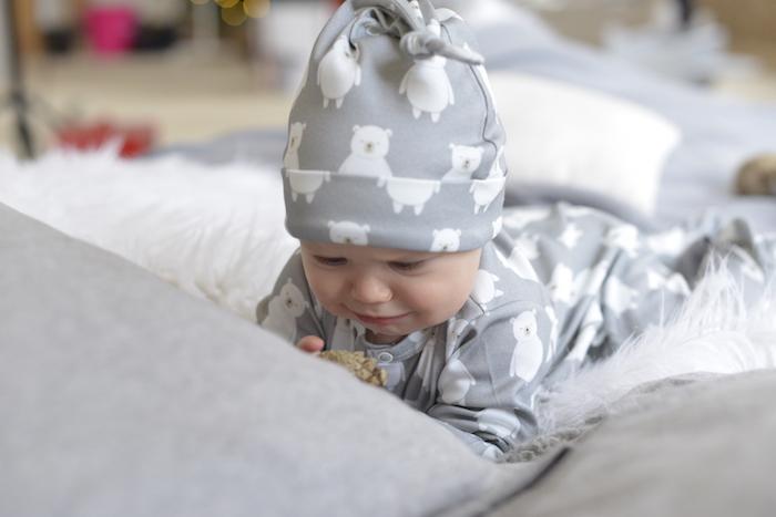 My Little Pie Шапочка для новорожденного Серый Мишка