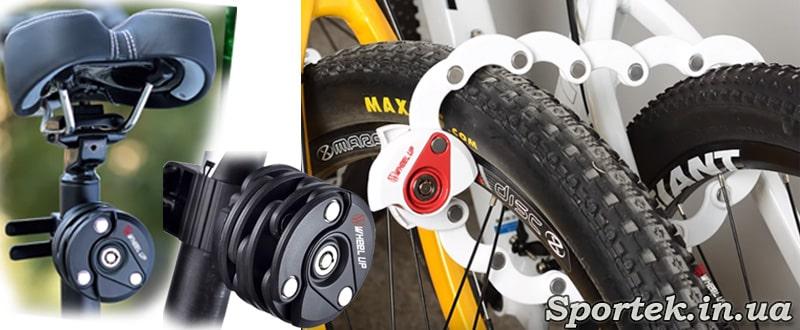 Пластинчастий велосипедний замок круглої форми