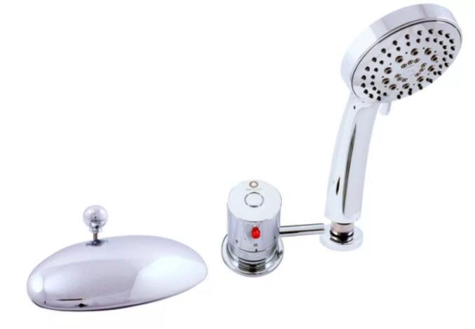 смеситель на борт ванны термостатический