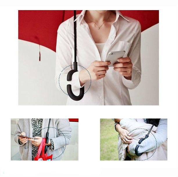 Как правильно носить обратный зонтик