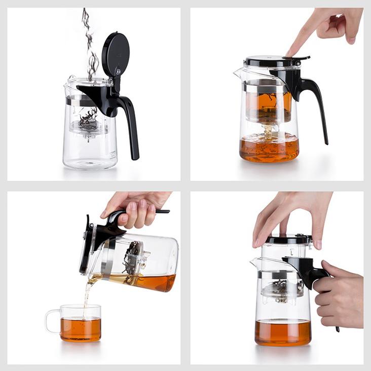 Как заваривать чай в чайнике с кнопкой