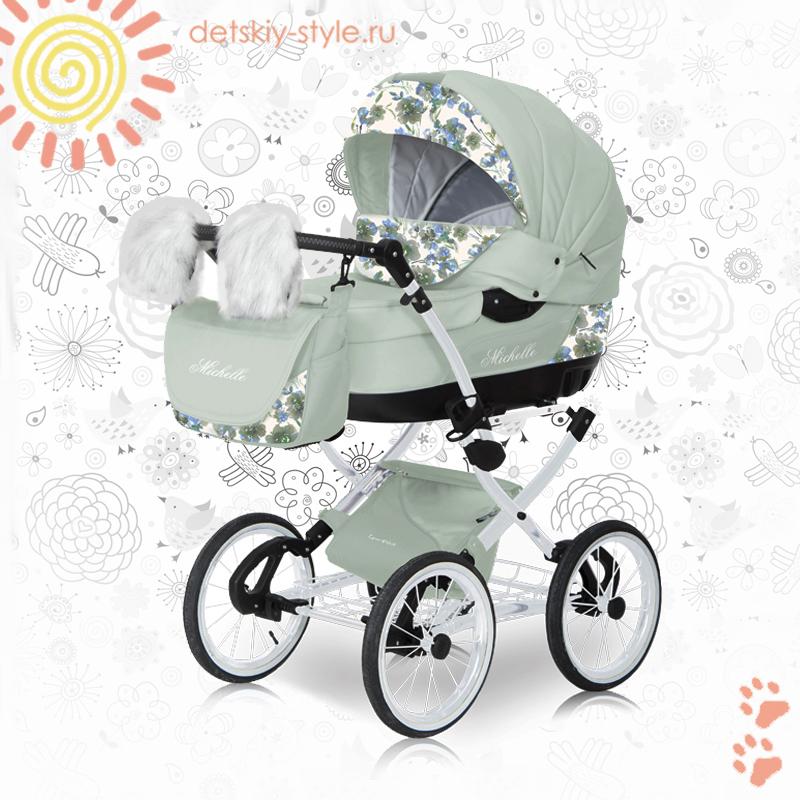 коляска сaretto michelle lux 2в1, купить, цена, детская коляска каретто мишель люкс, 2в1, заказ, заказать, стоимость, коляска мишель lux 2в1, отзывы