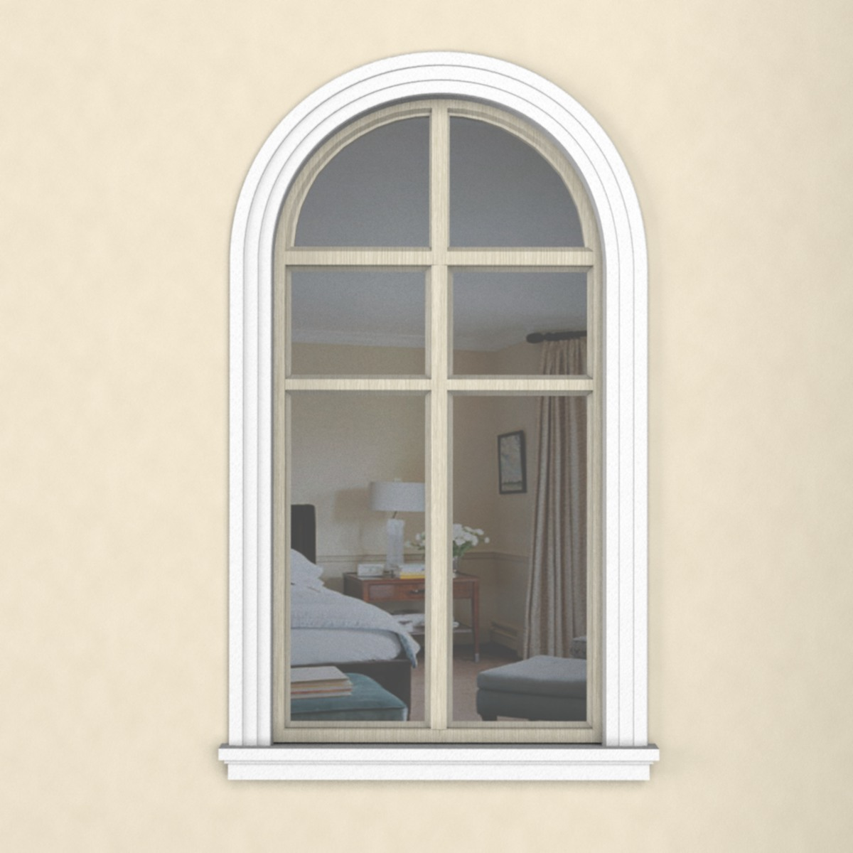 Пластиковое окно с наличником из пенопласта