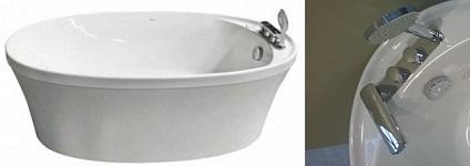 Акриловая ванна овальная Appollo TS-1709W 170х90