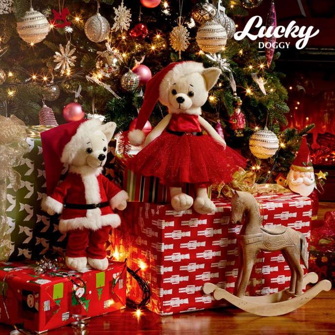 Собака Lucky Oscar Санта