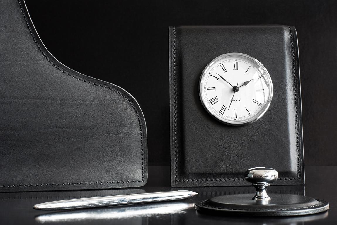 элитный черный набор на письменный стол