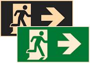 фотолюминесцентный знак эвакуации Е35 Направление к эвакуационному выходу направо