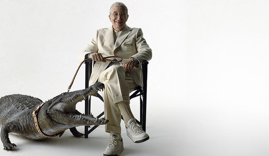 Рене Лакост с крокодилом