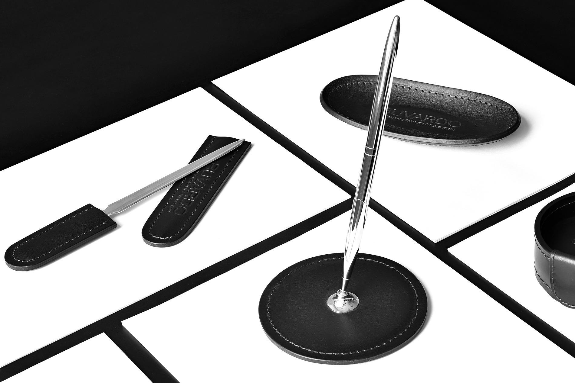 Подставка для одной ручки из кожи Full Grain Black/Cuoietto черный buvardo vipnabor