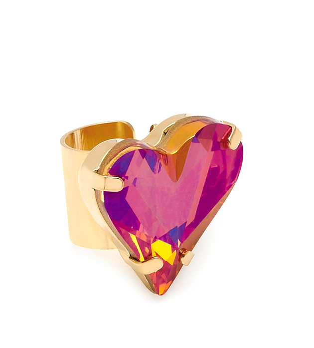 яркая серьга-кафф Heart в форме сердца от Maria Francesca Pepe