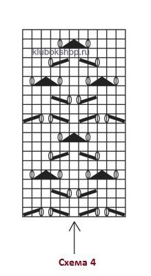 Схема вязания 4 - летний женский джемпер-топ